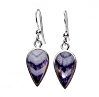 Derbyshire Blue John Large Teardrop Earrings