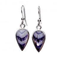 Derbyshire Blue John Large Teardrop Earrings