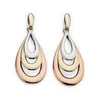 Trigold Teardrop Earrings