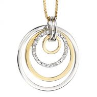 Gold & Diamond Circles Pendant