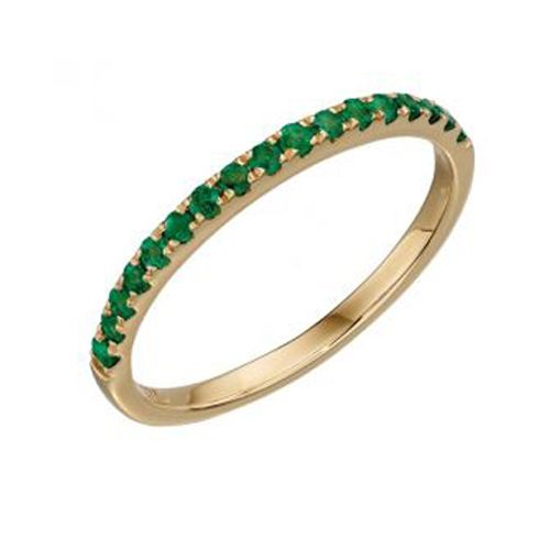 Emerald Eternity ring in 9ct yellow gold