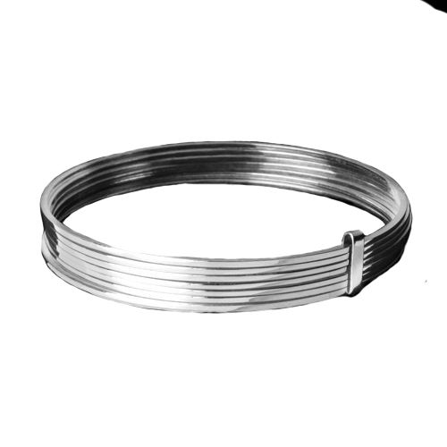 7-Row Silver Stacking Bangle