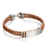 Tan Leather Inlay Bracelet