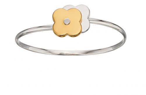 Shadow Flower Silver & Gold Bangle by Orla Kiely