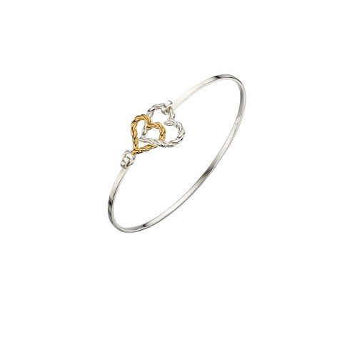 Double Rope Heart Bangle