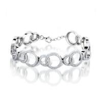 Cubic Zirconia Circles Bracelet