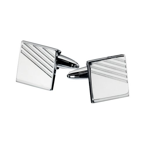 Fred Bennett Ribbed Detail Cufflinks