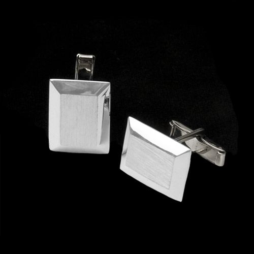 Matt & Shiny Geometric Cufflinks
