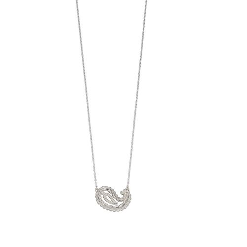 Silver Paisley In-Line Necklace