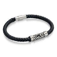 Maverick Black Leather Bracelet