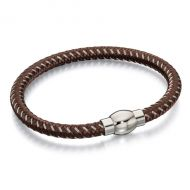 Fred Bennett Stainless Steel Brown and Grey Rope Bracelet