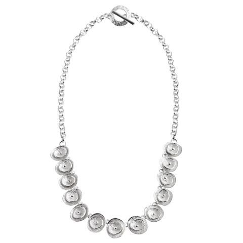 Chris Lewis Silver Poppy Necklace