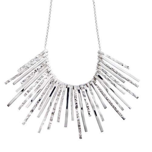 Chris Lewis Sterling Silver Symmetrical Evening Necklace
