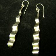 Silver Undulations Earrings