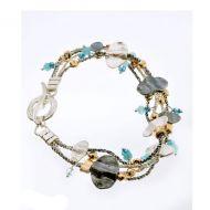 Multistranded Blues Bracelet