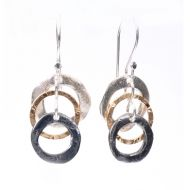 Triple Ring Drop Earrings