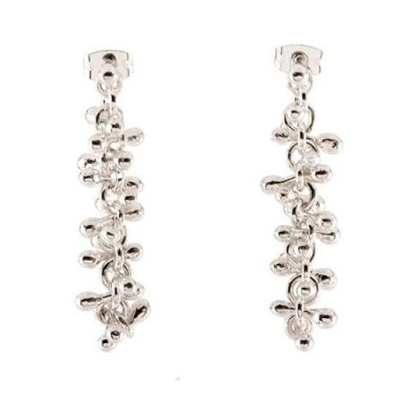 Chris Lewis Matchstick Silver Drop Earrings