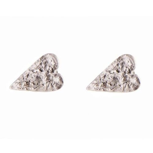 Chris Lewis Jagged Heart Silver Studs