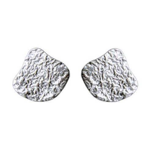 Chris Lewis Silver Pebble Studs