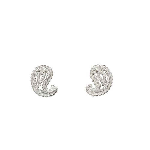 Paisley Silver Studs
