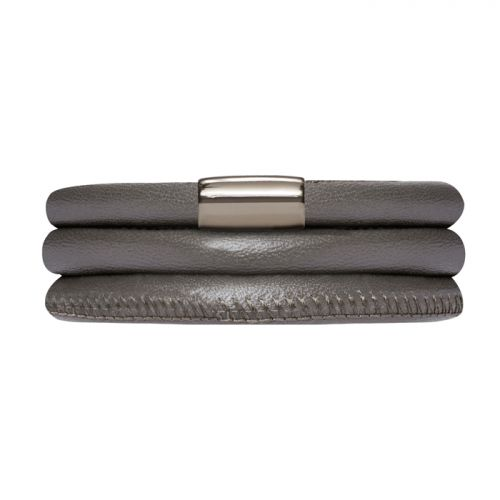 Endless Anthracite Triple Leather Bracelet J-Lo Collection