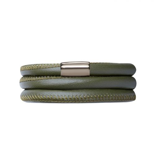 Endless Green Leather Triple Bracelet