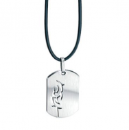 Fred Bennett Cutout Stainless Steel Tag Pendant