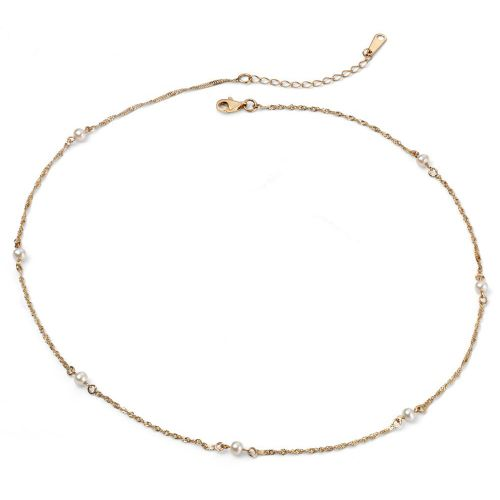 Freshwater Pearl Station Necklace