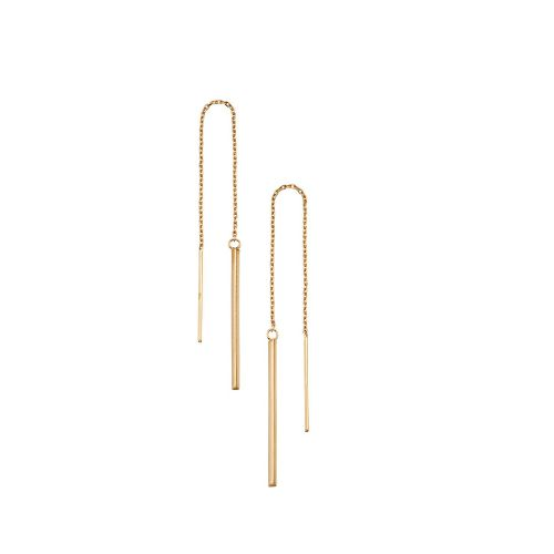 Gold Pull Through Earrings