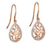 Ornate Rose Gold Drops