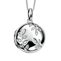 Diamond & White Gold Locket