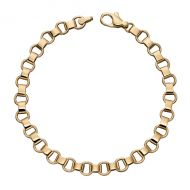 Round Link Gold Bracelet