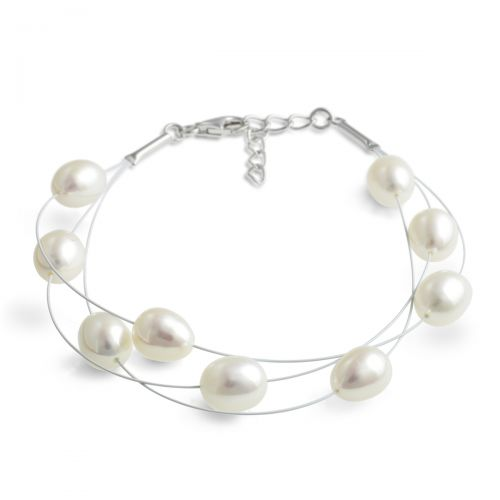 Jersey Pearl Dew-Drop Layered Bracelet