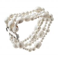 Jersey Pearl Four-Row Baroque Bracelet