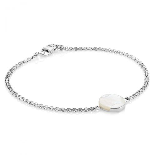 Jersey Pearl Mother-of-Pearl Dune Bracelet in Silver