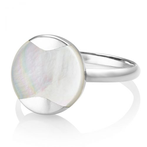 Jersey Pearl Mother-of-Pearl Dune Ring - size L