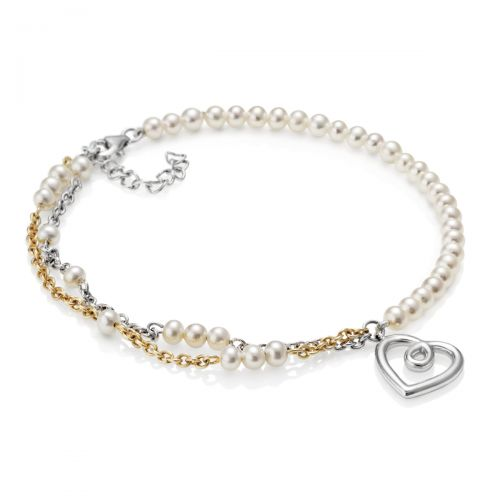 Kimberley Selwood Aphrodite Layered Pearl and Gold-Plated Bracelet
