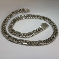 Chunky Sterling Silver Figaro Chain