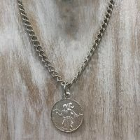 22mm St. Christopher Pendant and Chain