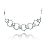 Cubic Zirconia Circles Necklace