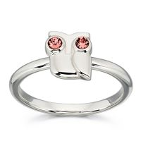 Orla Kiely Animal Stories Silver Owl Ring