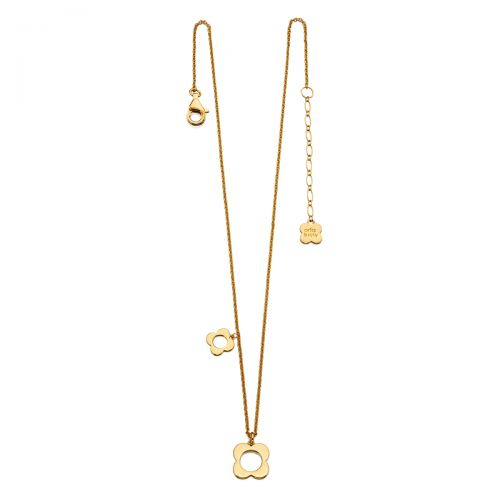 Gold Flora Necklace by Orla Kiely