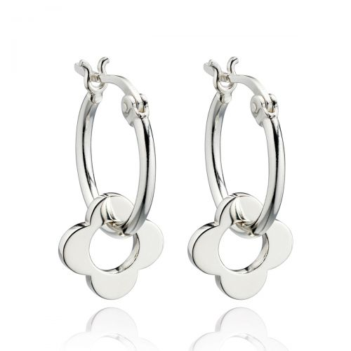Flora Silver Earrings by Orla Kiely