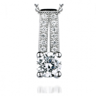 Vintage Style Silver and Cubic Zirconia Pendant