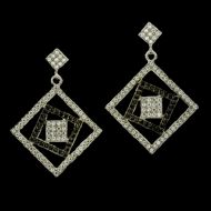 Open Squares Earrings