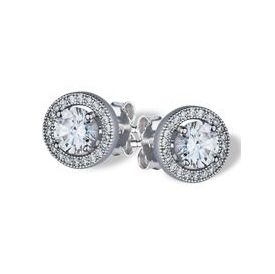 Central Sparkle Silver Studs