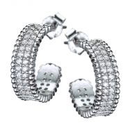 Glistening Hoop Earrings