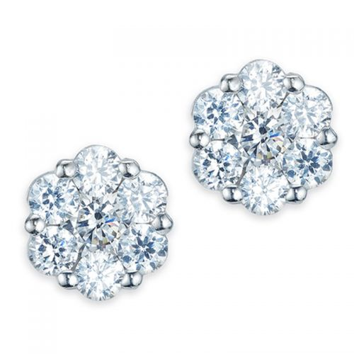 Large Flower Sparkle Studs
