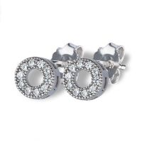 Open Circle Sparkly Studs