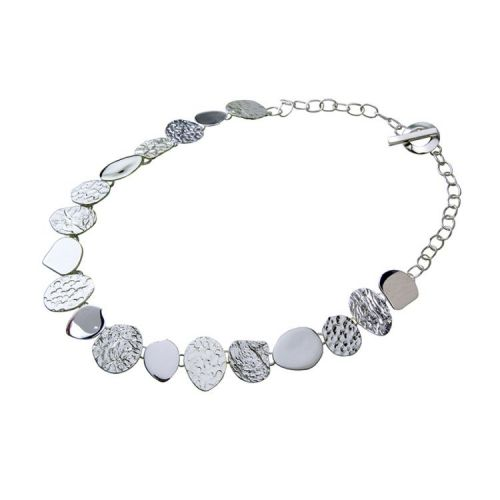 Chris Lewis Sterling Silver Pebble Necklace